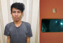 Pemuda berinisial RA (21), ditangkap Polisi karena kedapatan membawa narkoba di Jalintim depan Pasar Putri Agung Menggala (Pasar Baru)