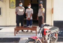 Pemuda berinisial MF (17) yang telah mencuri di rumah kakek 82 tahun saat berada di Polsek Rawa Pitu