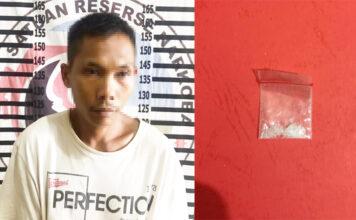 Seorang petani berinisial SA (22), pemasok narkoba untuk lima warga binaan Rutan Kelas II B Menggala yang berhasil diringkus Polisi