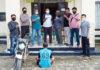 Pemuda bernisial DS (18), diringkus Polsek Gedung Aji karena telah merenggut kesucian perempuan 12 tahun di areal perkebunan sawit di Kampung Kecubung Raya