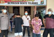 Dua orang pemuda berinisial ID (22) dan IN (16), yang diringkus Polsek Dente Teladas