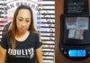 Perempuan terduga bandar narkoba berinisial DA (31), yang diringkus Satresnarkoba Polres Tulang Bawang di kamar, Hotel Sarbini