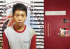 Pemuda berinisial YO als MG (22), asal Margodadi yang dibekuk Satresnarkoba Polres Tuba saat menggerbek gubuk di Kampung Kagungan Dalam