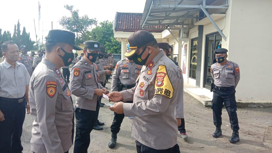 Wakapolres pimpin gaktiblin di Polsek Banjar Agung