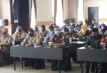 Kapolres Tulang Bawang AKBP Andy Siswantoro, SIK saat menghadiri acara konferkab VII, PWI Tulang Bawang di Hotel Le'Man, Kampung Dwi Warga Tunggal Jaya