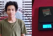 Seorang pemuda pengangguran berinisial RO (24), yang diringkus Polisi karena mengedarkan narkoba