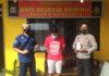 Residivis kasus curanmor yang mencuri handphone berinisial HA (25), saat berada di Mapolsek Menggala