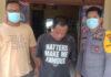 Terduga pelaku curanmor berinisial HN als HA (36), saat berada di Mapolsek Rawa Jitu Selatan